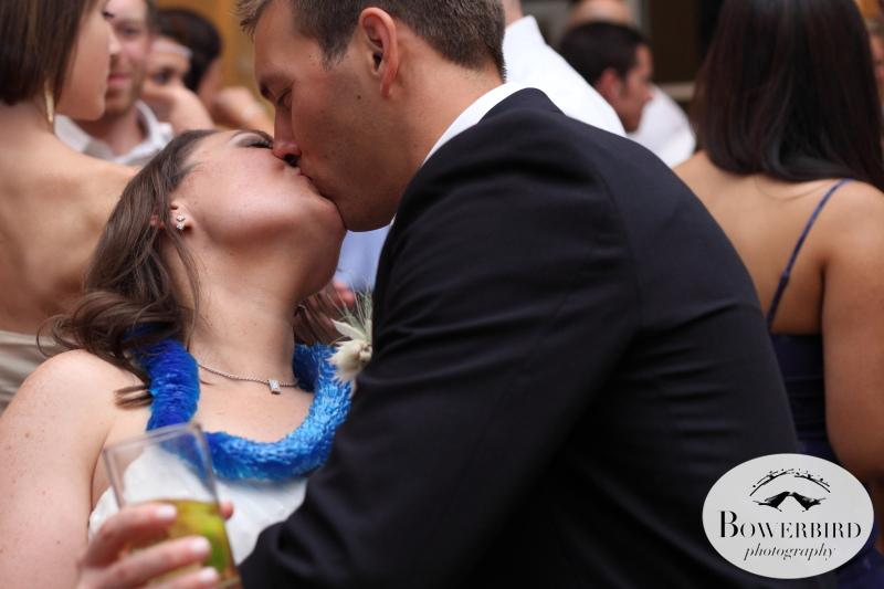 And a kiss at the end of the most wonderful day!©Bowerbird Photography 2013;Mill Valley Community Center Wedding, Mill Valley.