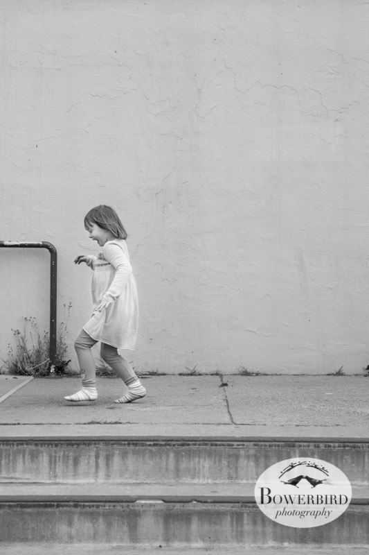 Running in socks -- too cute!   © Bowerbird Photography 2013; San Francisco Family Photography.