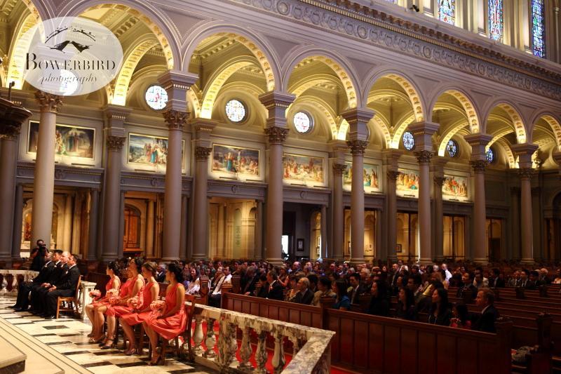 Th ceremony begins. ©Bowerbird Photography 2013; St. Ignatius Church Wedding, San Francisco.