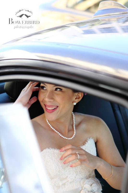 And off they go to their wedding reception! ©Bowerbird Photography 2013; St. Ignatius Church Wedding, San Francisco.
