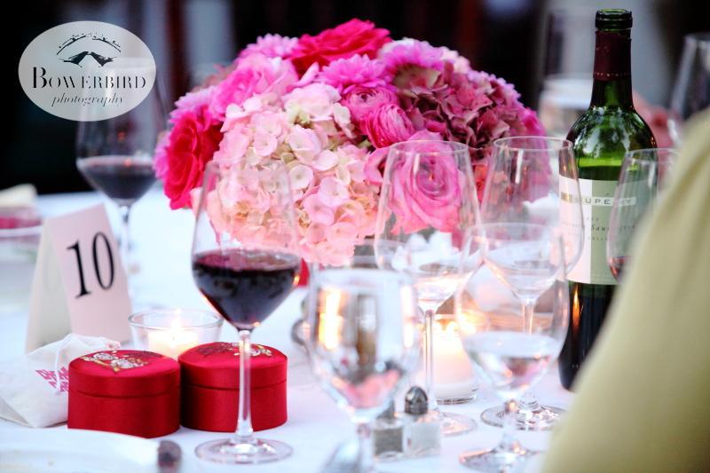 Pretty table settings. ©Bowerbird Photography 2013; Marin Art and Garden Center Wedding, Ross, CA.