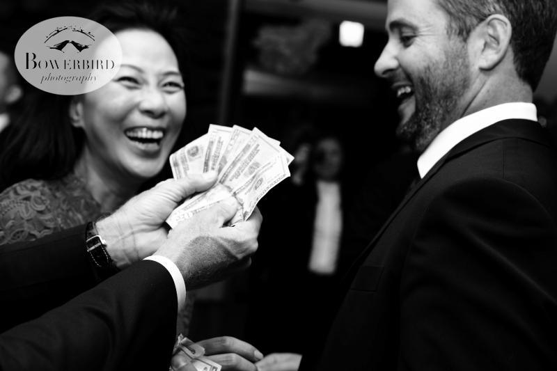 Wedding money dance! ©Bowerbird Photography 2013; Marin Art and Garden Center Wedding, Ross, CA.