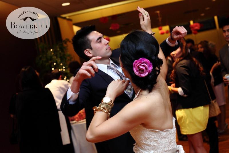 And then the dance party got going on the dance floor! ©Bowerbird Photography 2013; Marin Art and Garden Center Wedding, Ross, CA.
