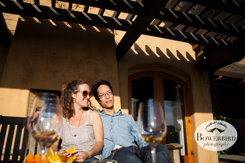 Loving the late afternoon sunshine! Wine tasting at Nicholson Ranch, Sonoma, CA. © Bowerbird Photography 2013.