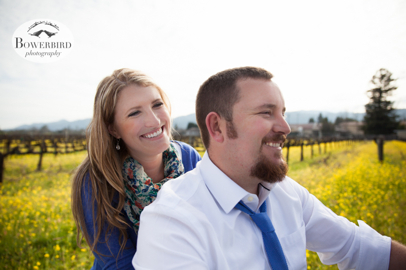 Taking a ride on the Harley! © Bowerbird Photography 2013; Engagement Photography in Napa Valley, CA.