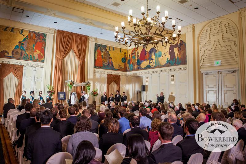 The wedding ceremony. ©Bowerbird Photography 2013; Mark Hopkins Hotel Wedding, San Francisco.