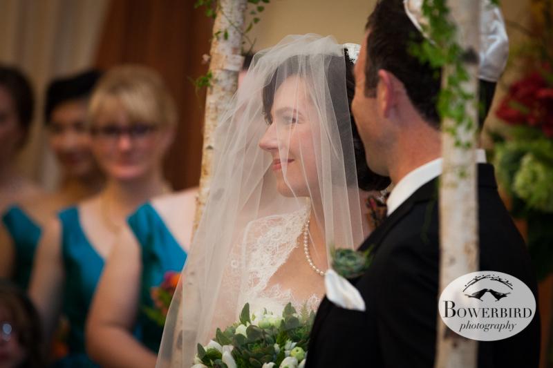 The bride looking so happy :) ©Bowerbird Photography 2013; Mark Hopkins Hotel Wedding, San Francisco.