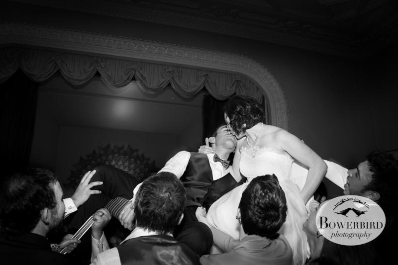 KISS! ©Bowerbird Photography 2013; Mark Hopkins Hotel Wedding, San Francisco.