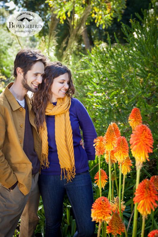 © Bowerbird Photography 2013; Engagement Photography in Golden Gate Park, Botanical Gardens, San Francisco.