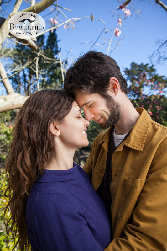 Lovers! © Bowerbird Photography 2013; Engagement Photography in Golden Gate Park, Botanical Gardens, San Francisco.