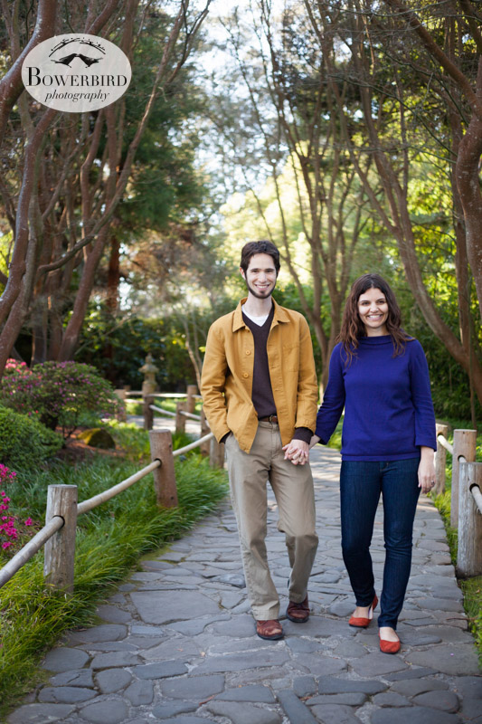 © Bowerbird Photography 2013; Engagement Photography in Golden Gate Park, Japanese Tea Garden, San Francisco.