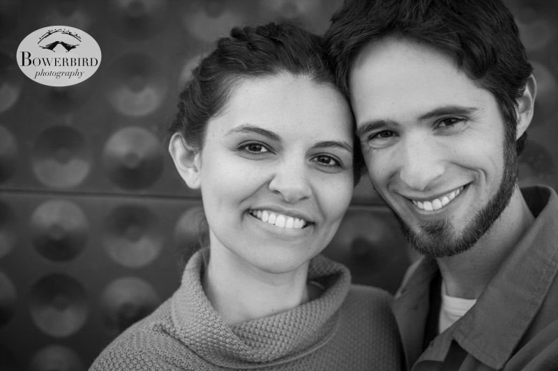 So cute! © Bowerbird Photography 2013; Engagement Photography in Golden Gate Park, De Young Museum San Francisco.