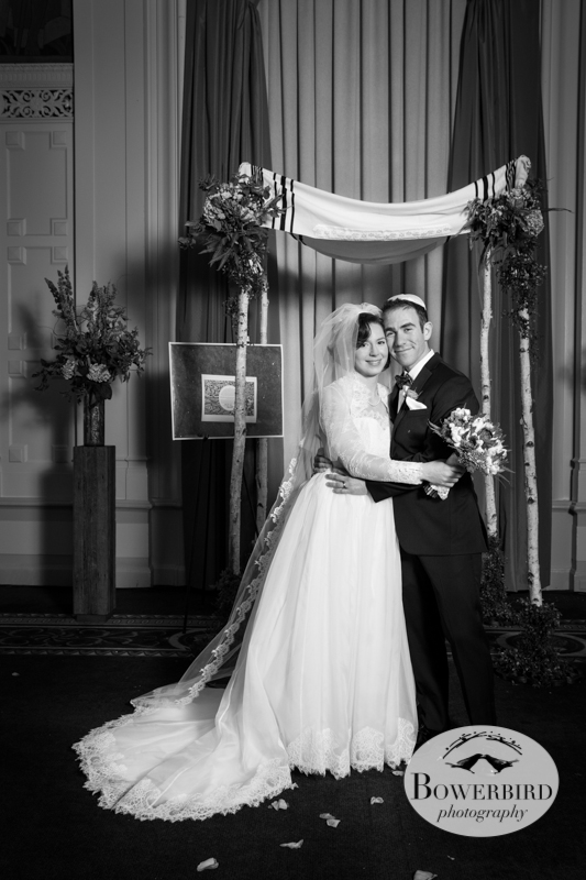 The couple wanted a classic photograph of the two of them, reminiscent of how their grandparents looked on their wedding day.