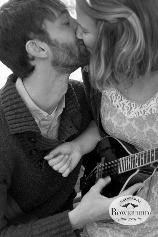 Musical make-out session! © Bowerbird Photography 2013; Engagement Photo in Tilden Park, Berkeley.