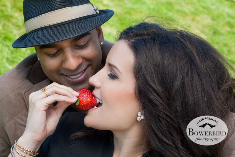 Spring strawberries from the farmers' market. © Bowerbird Photography 2013; San Francisco Engagement Photo.