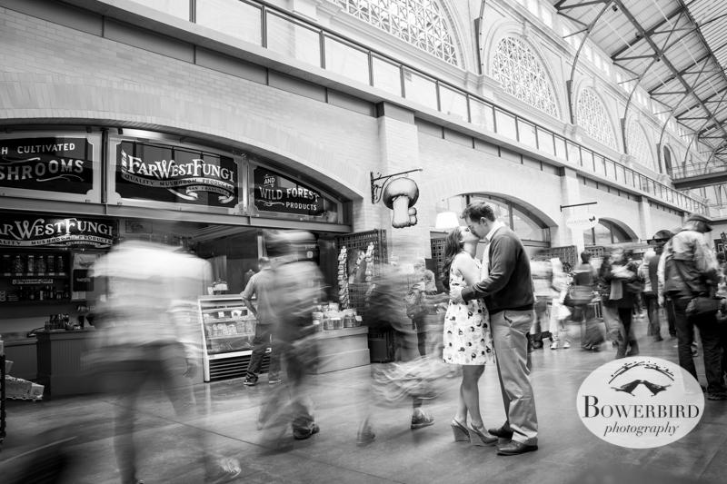 Time. Stops. © Bowerbird Photography 2013; San Francisco Engagement Photo.