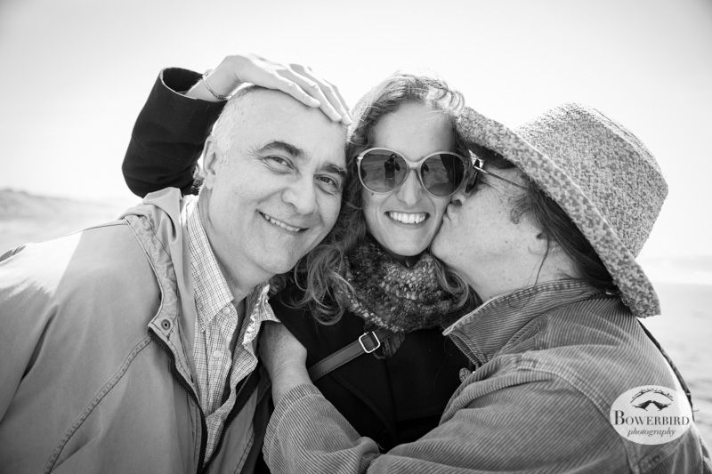 Then we took a beach walk with Ariel's mom + dad. © Bowerbird Photography 2013.