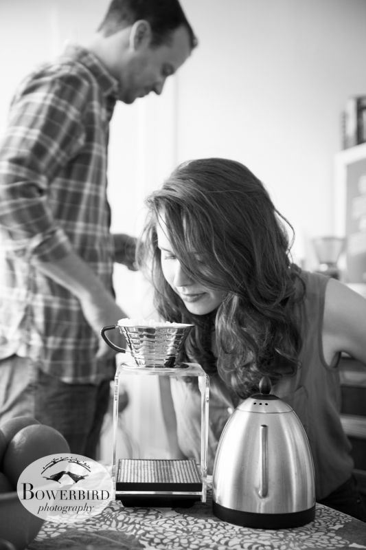 Amor-roma! © Bowerbird Photography 2013; A Coffee Date, San Francisco Engagement Photo.