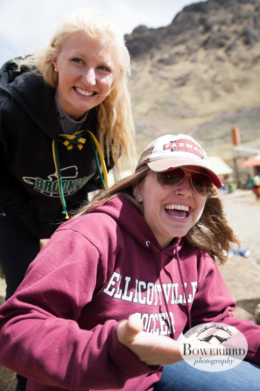 Students from SUNY Brockport find some time to joke around during a lunch break. © Bowerbird Photography 2013, Sacred Valley Health and Suny Brockport in Yanamayo, Peru.