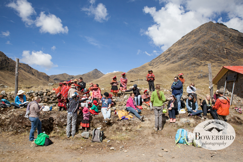 Everyone mingles for lunch. © Bowerbird Photography 2013, Sacred Valley Health and Suny Brockport in Yanamayo, Peru.