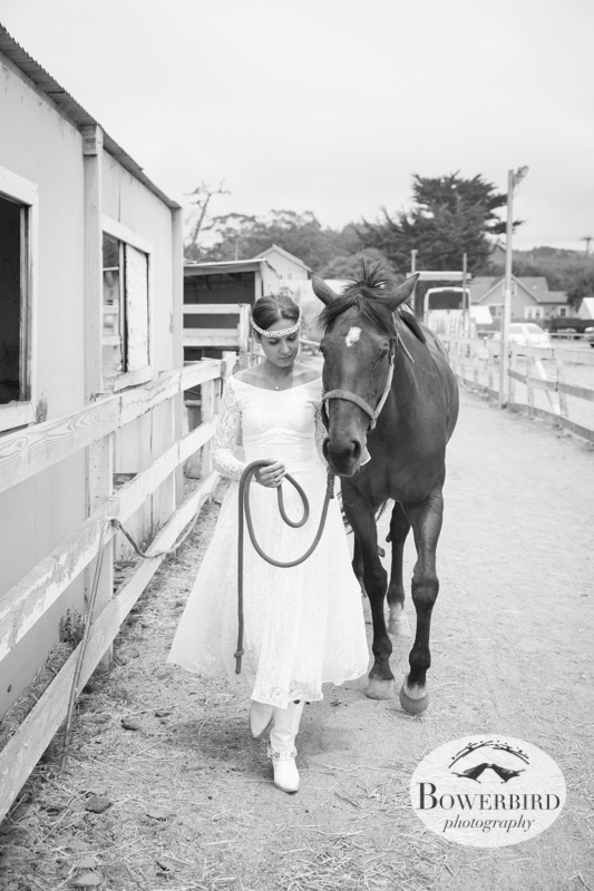 Olga with her horse, Sister. © Bowerbird Photography 2013, Half Moon Bay Horse Ranch.