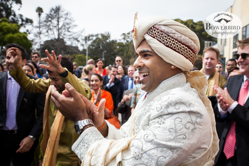 The groom = all smiles! © Bowerbird Photography 2013, South Asian Wedding at the San Francisco Winery SF on Treasure Island.