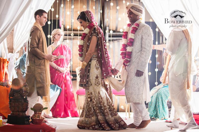 Angelica leading Avneesh :) © Bowerbird Photography 2013, South Asian Wedding at the San Francisco Winery SF on Treasure Island.