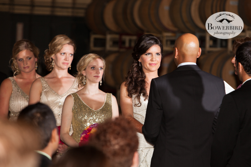 The ceremony begins :) © Bowerbird Photography 2013, Wedding at the San Francisco Winery SF on Treasure Island.