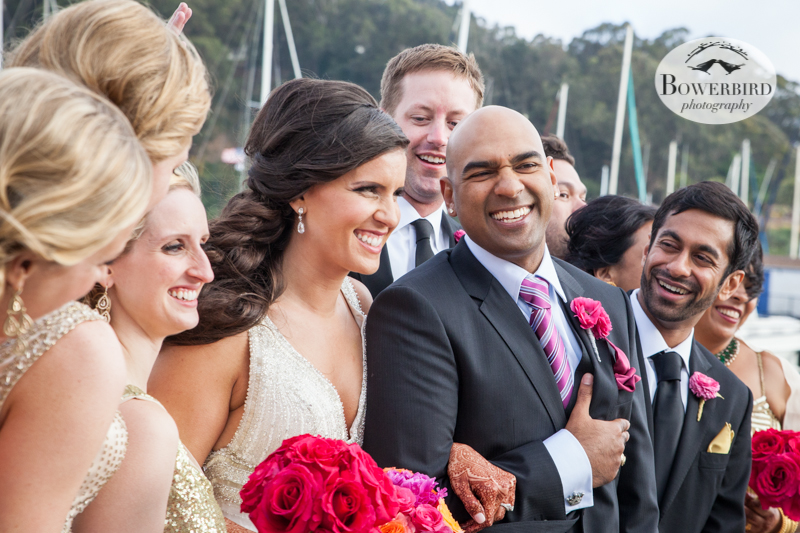 Surrounded by love. © Bowerbird Photography 2013, Wedding at the San Francisco Winery SF on Treasure Island.