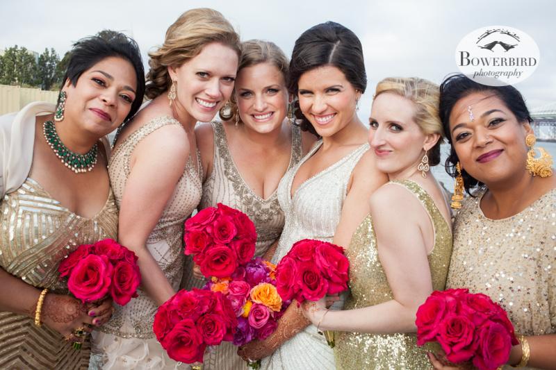 Las chicas bonitas! © Bowerbird Photography 2013, Wedding at the San Francisco Winery SF on Treasure Island.