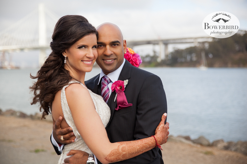 The beautiful bride and her handsome groom :) © Bowerbird Photography 2013, Wedding at the San Francisco Winery SF on Treasure Island.