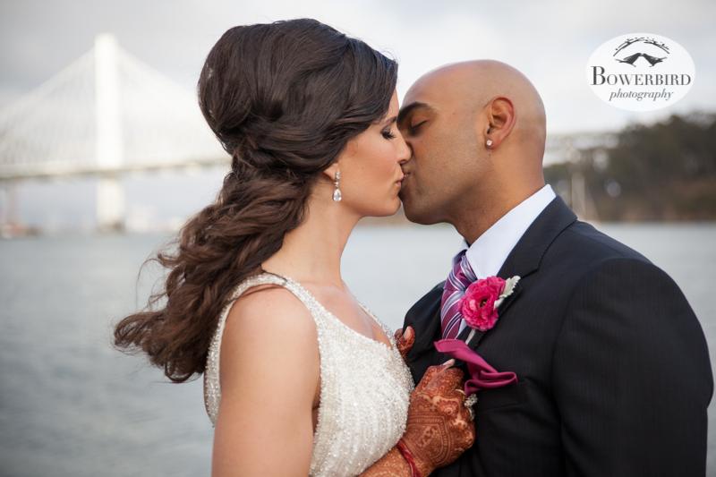 Kiss! © Bowerbird Photography 2013, Wedding at the San Francisco Winery SF on Treasure Island.