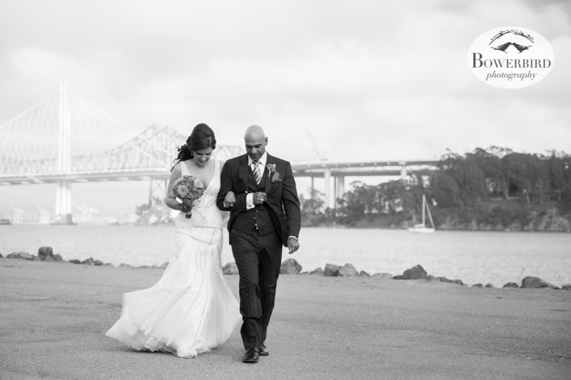 Arm in arm. © Bowerbird Photography 2013, Wedding at the San Francisco Winery SF on Treasure Island.