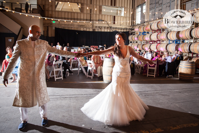 The first dance. © Bowerbird Photography 2013, Wedding at the San Francisco Winery SF on Treasure Island.