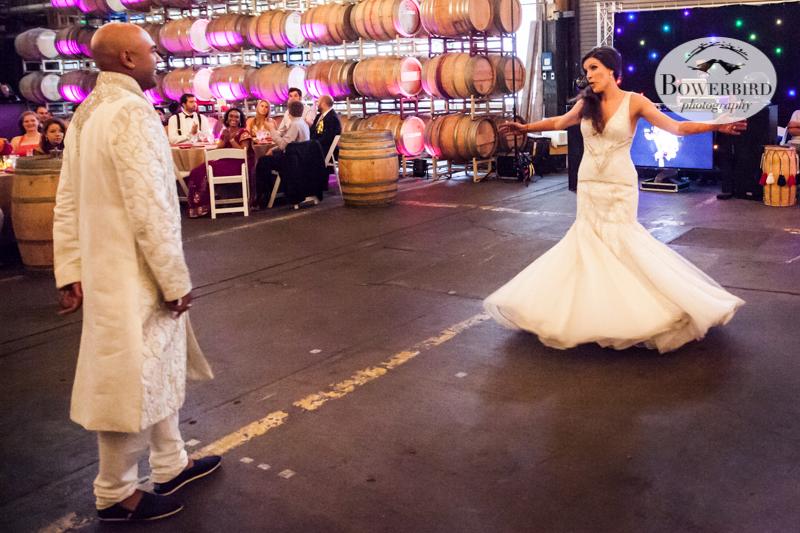 Twirl!! © Bowerbird Photography 2013, Wedding at the San Francisco Winery SF on Treasure Island.