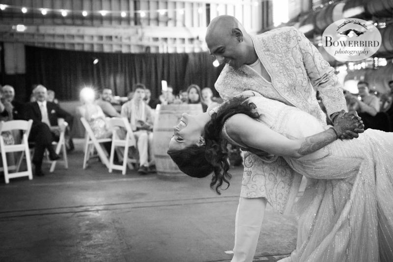 That. Dip. © Bowerbird Photography 2013, Wedding at the San Francisco Winery SF on Treasure Island.