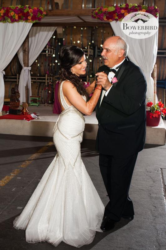 Dancing with dad! So cute! © Bowerbird Photography 2013, Wedding at the San Francisco Winery SF on Treasure Island.