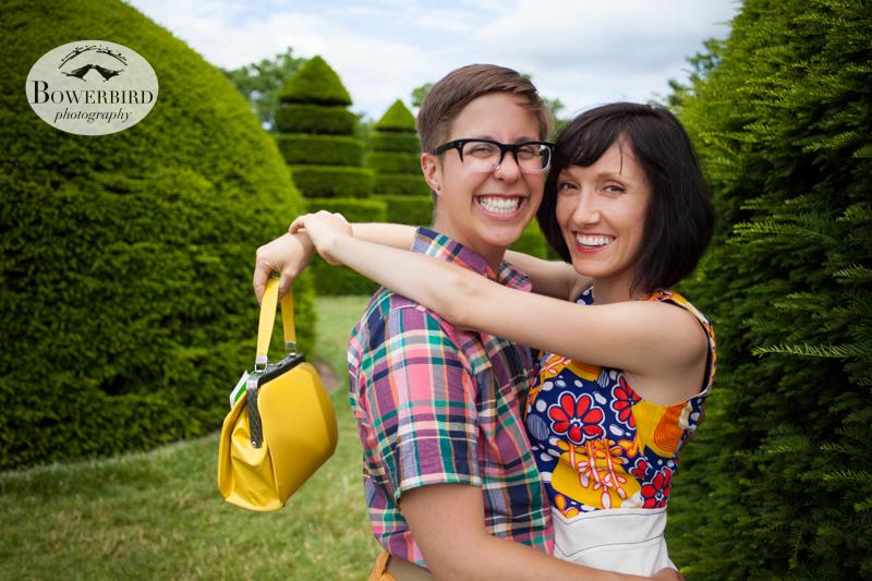 Fashion models ♥ © Bowerbird Photography 2013, LGBTQ couples photo session in Longwood Gardens, Pennsylvania.