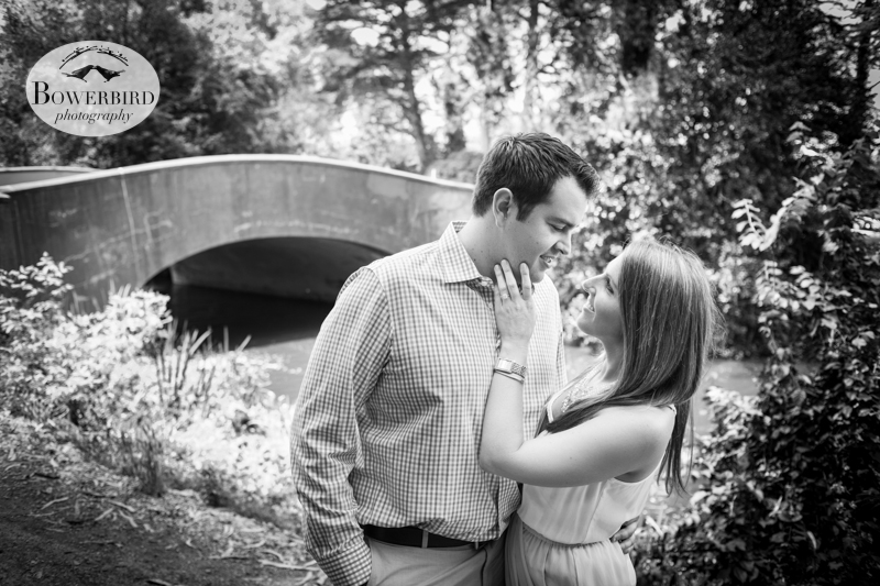 So romantic! © Bowerbird Photography 2013, San Francisco Engagement Photo at Stow Lake in Golden Gate Park.