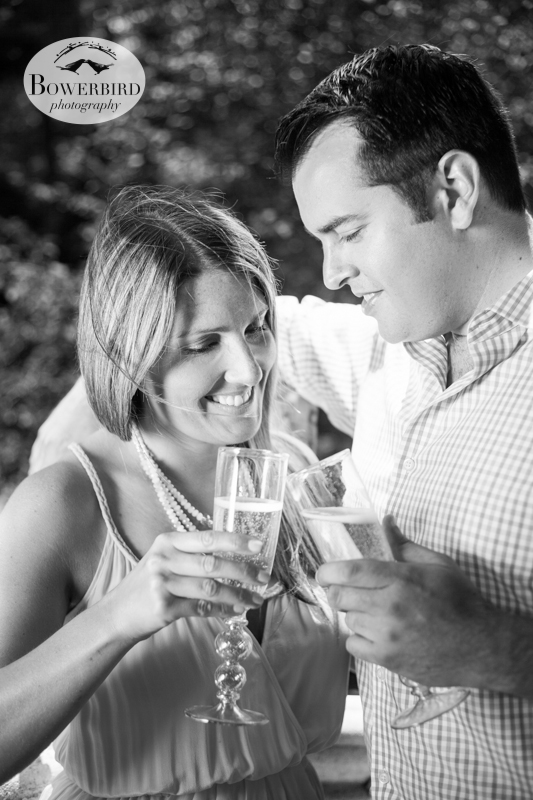 A toast to love! © Bowerbird Photography 2013, San Francisco Engagement Photo at Stow Lake in Golden Gate Park.