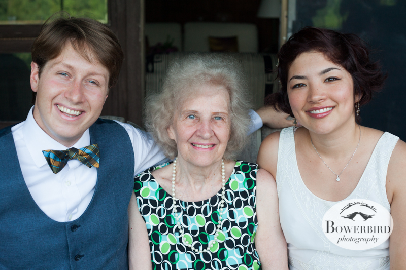 With grandma on the porch. © Bowerbird Photography 2013, Destination Wedding Photography in the Brandywine Valley, Pennsylvania.