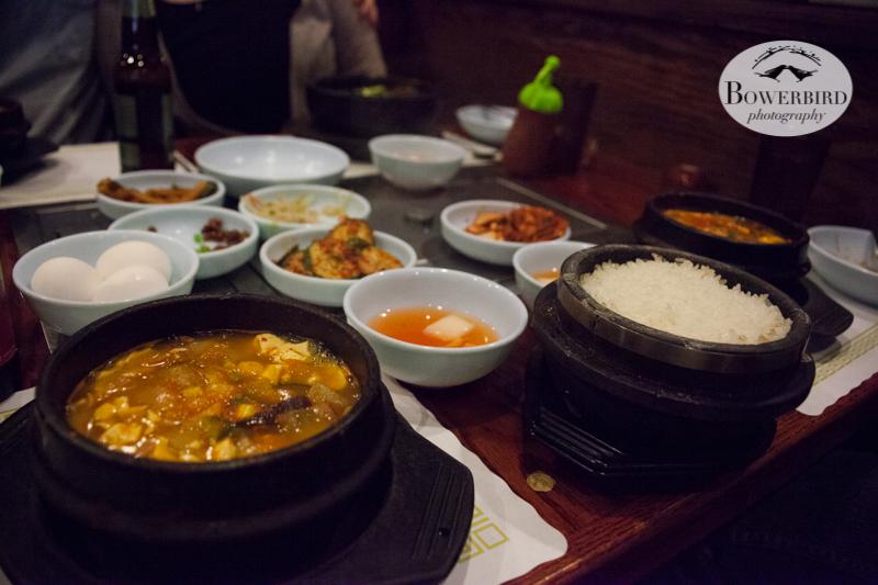 Delicious Korean food! © Bowerbird Photography 2013.