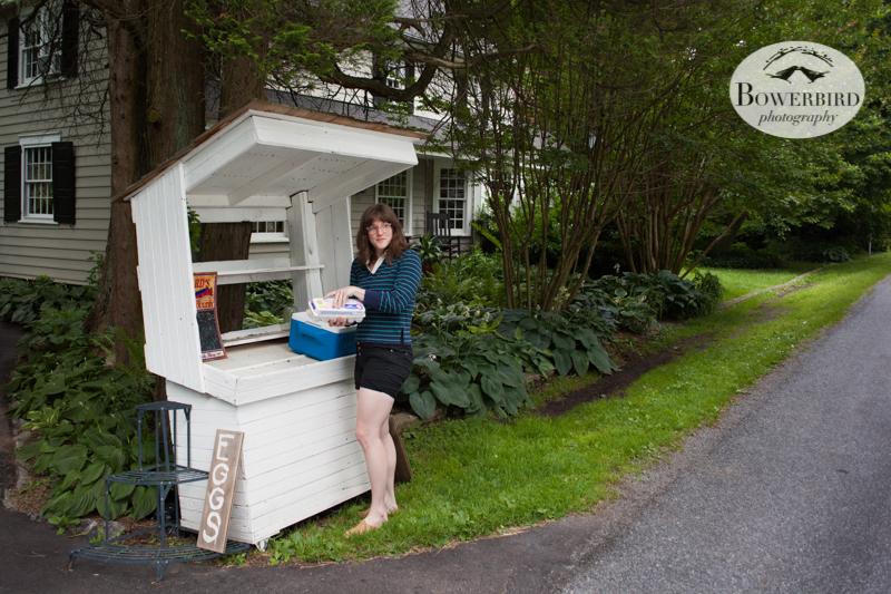Buying farm fresh eggs. © Bowerbird Photography 2013.