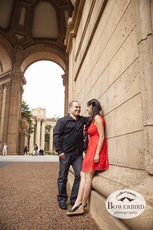 San Francisco Engagement Photos at Palace of Fine Arts. © Bowerbird Photography 2013.