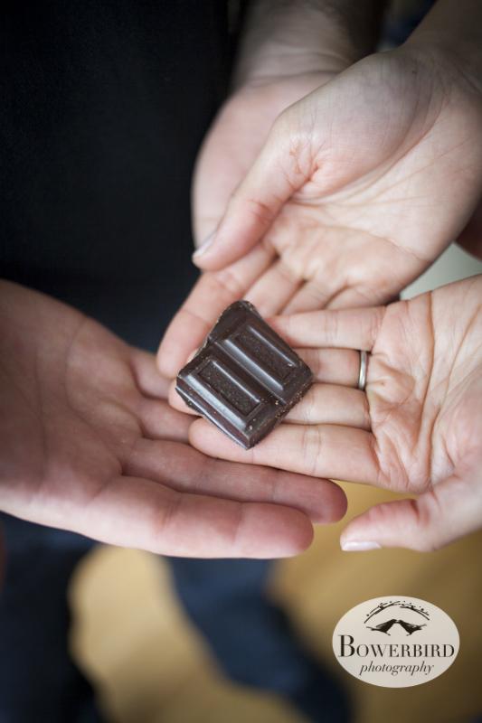San Francisco Engagement Photos, Homemade Chocolate Date. © Bowerbird Photography 2013.