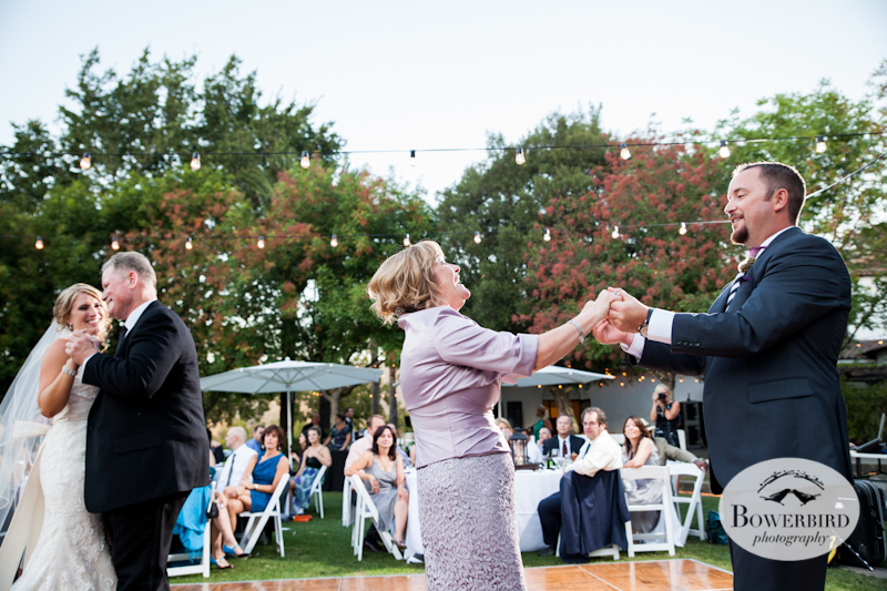 Father-daughter and mother-son dance. Wente Vineyards Wedding Photography in Livermore. © Bowerbird Photography 2013.