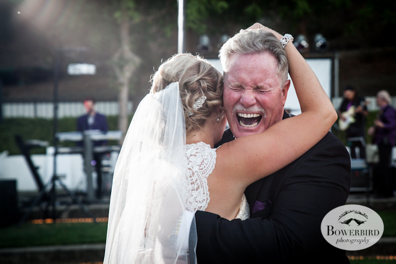 Father-daughter dance.Wente Vineyards Wedding Photography in Livermore. © Bowerbird Photography 2013.