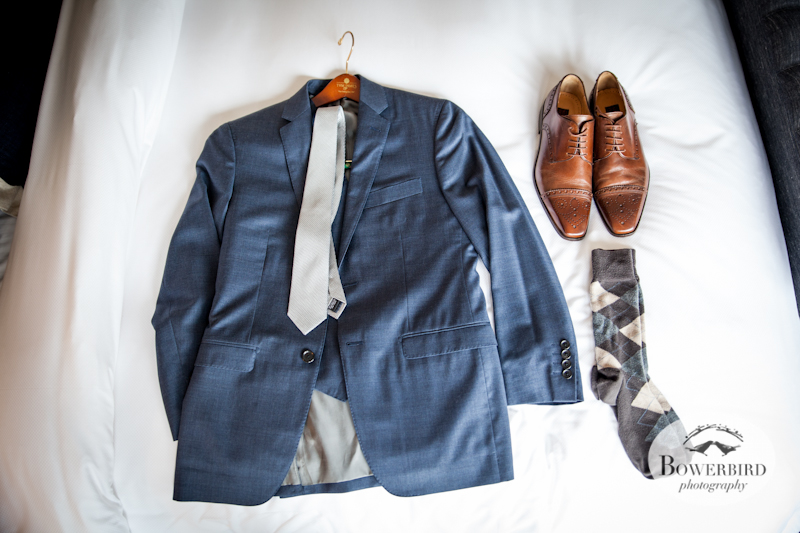 The Groom is all prepared to start the day. Lucie Stern Community Center Wedding Photos.© Bowerbird Photography 2013