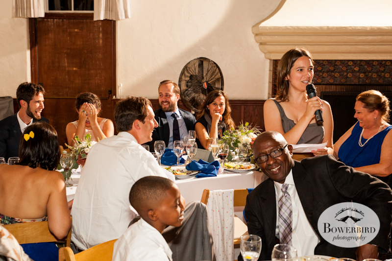 Check out the bride and groom's expressions! Lucie Stern Community Center Wedding Photos.© Bowerbird Photography 2013