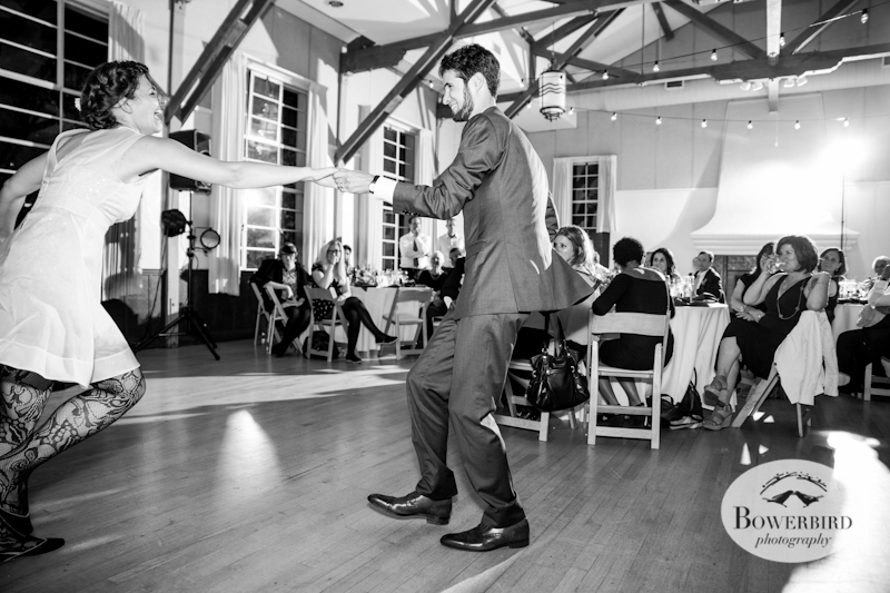 The bride and groom's first dance! Lucie Stern Community Center Wedding Photos.© Bowerbird Photography 2013